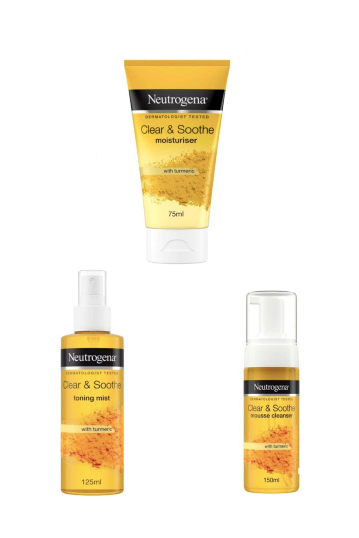 Neutrogena Soothing Clear Köpük 150 Ml +soothing Clear Nemlendirici 75 Ml+soothing Clear Tonik 125 1