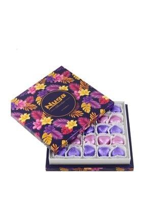 Nuga Viola Çiçek Desenli Kutu Kalpli Special Çikolata