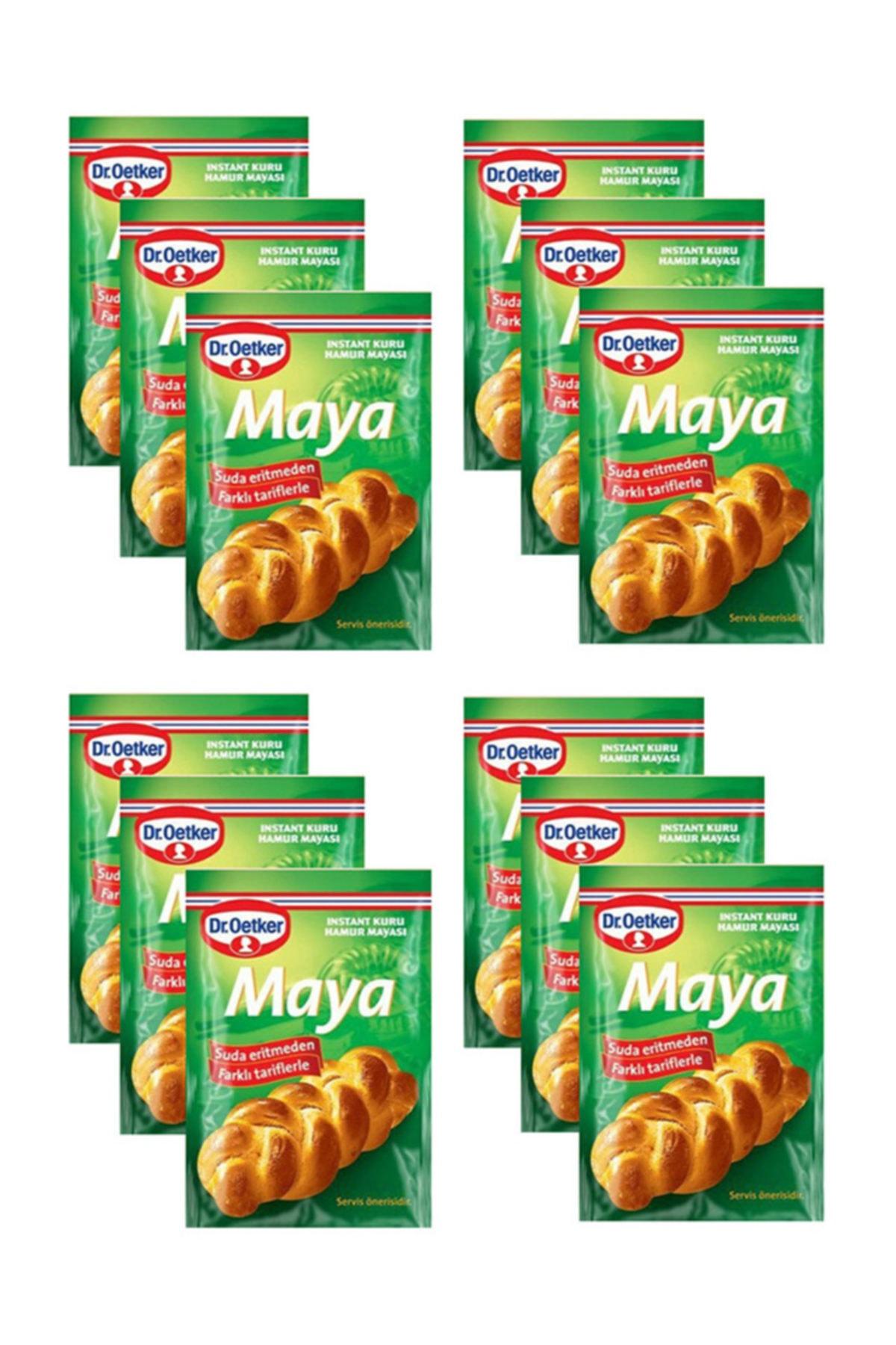 Dr. Oetker Instant Kuru Maya 10 gr x 12 Paket 1