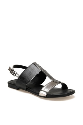 Miss F DS20032 Siyah Kadın Sandalet