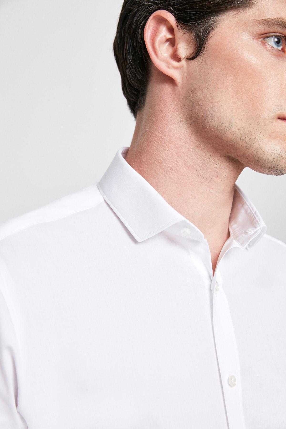 Twn Beyaz Renk Erkek  Gömlek (Slim Fit) 2