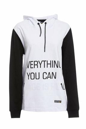 DeFacto Kapüşonlu Baskılı Slim Fit Spor Sweatshirt