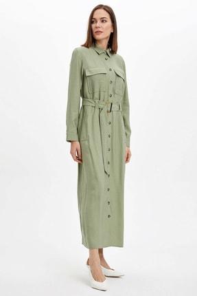 DeFacto Regular Fit Dokuma Elbise