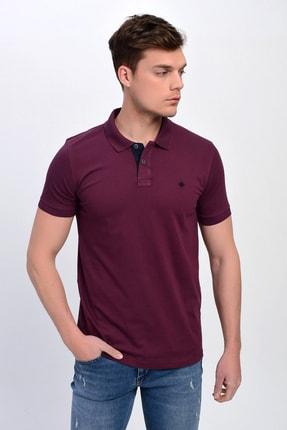 DYNAMO Erkek Mürdüm Polo Yaka Likralı T-shirt T621