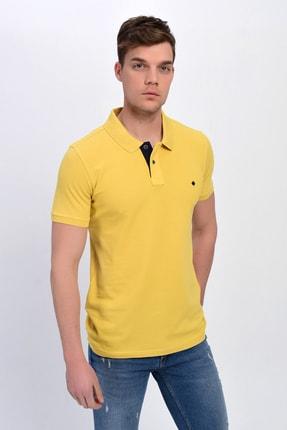 DYNAMO Erkek Sarı Polo Yaka Likralı T-shirt T621