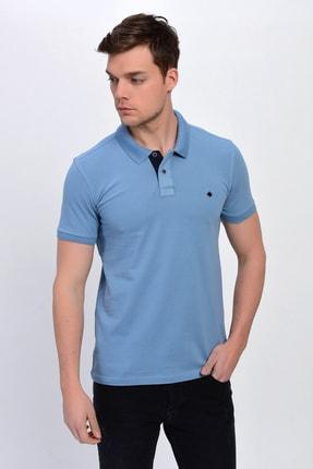 DYNAMO Erkek Açık Mavi Polo Yaka Likralı T-shirt T621