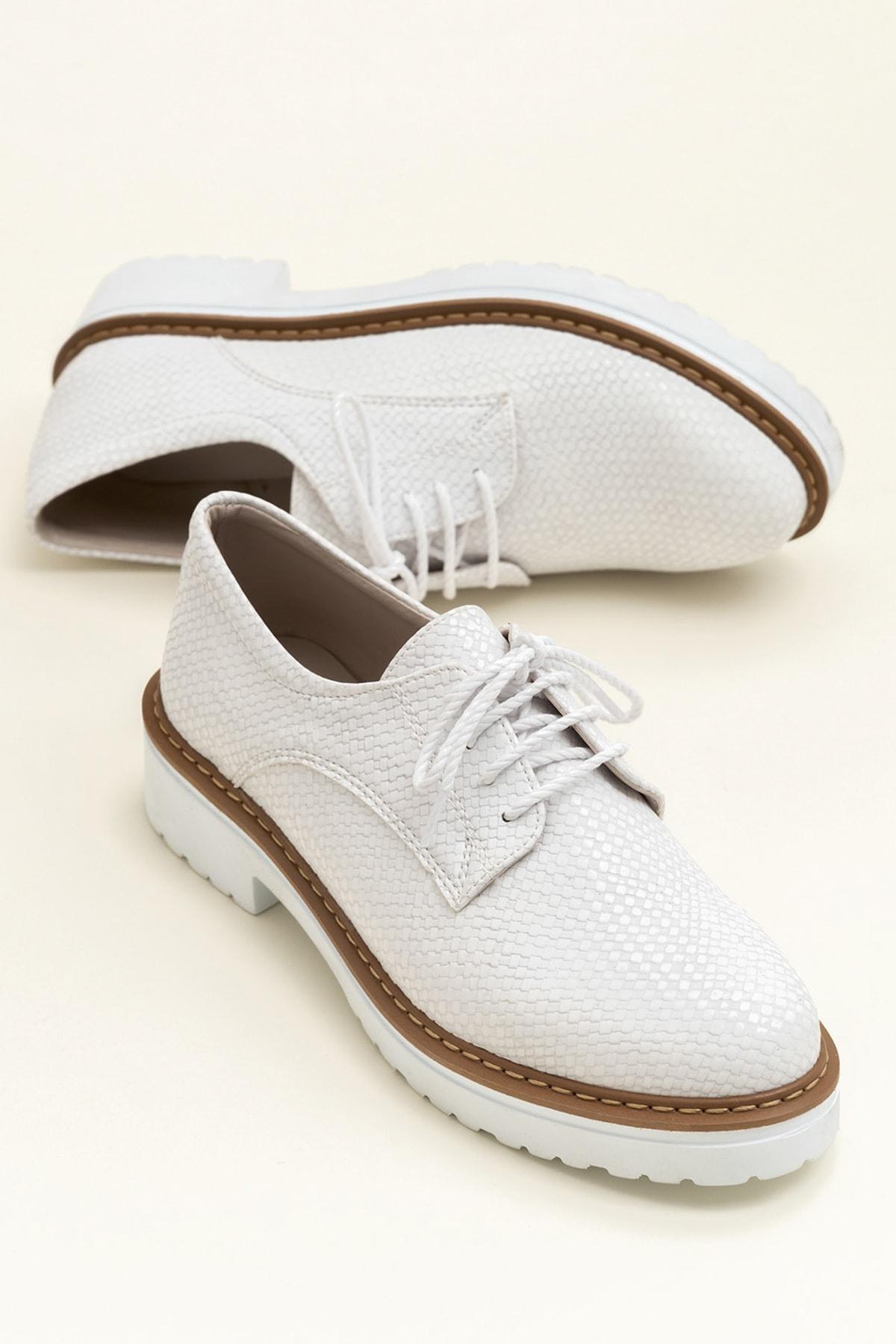 Elle Shoes LYSANNE-1 Beyaz Kadın Ayakkabı 1