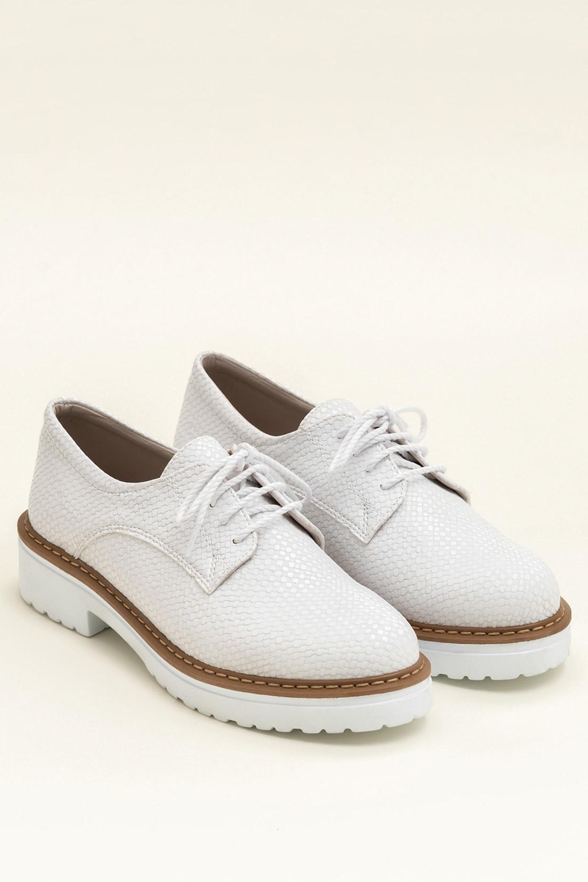 Elle Shoes LYSANNE-1 Beyaz Kadın Ayakkabı 2