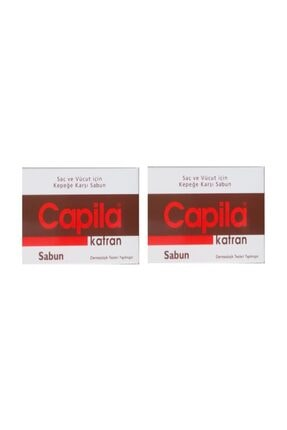 Capila Katran 90 G 2 Adet - Kepeğe Karşı Katranlı Ve Kükürtlü Saç Ve Vücut Sabunu
