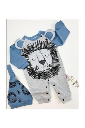 Murat Baby Erkek Bebek Şapkalı Aslan Tulum