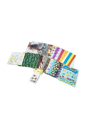 HAYAL Origami Kağıt Seti Karışık 100lü Paket - Hediyeli