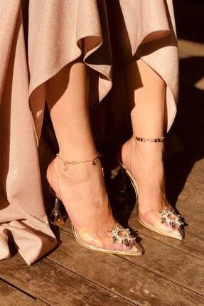 LAMİNTA Sunset Silver Şeffaf Taşlı Topuklu Ayakkabı