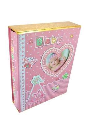 Süsle Baby Party Bebek Fotoğraf Albümü, Kalp Çerçeveli, Kutulu Ve 200 Resimlik, Pembe