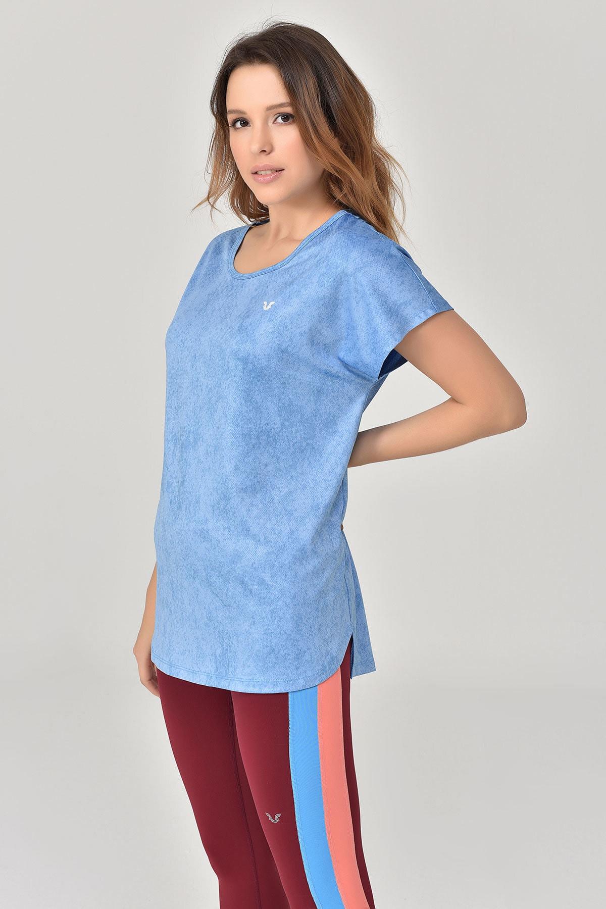 bilcee Mavi Kadın T-Shirt GS-8075 2