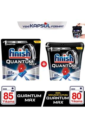 Finish Finish Quantum Max 85 Kapsül+Özel Saklama Kutusunda Quantum Max 80 Kapsül Bulaşık Makinesi Deterjanı