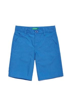 United Colors of Benetton Mavi Çocuk Chino Bermuda Şort
