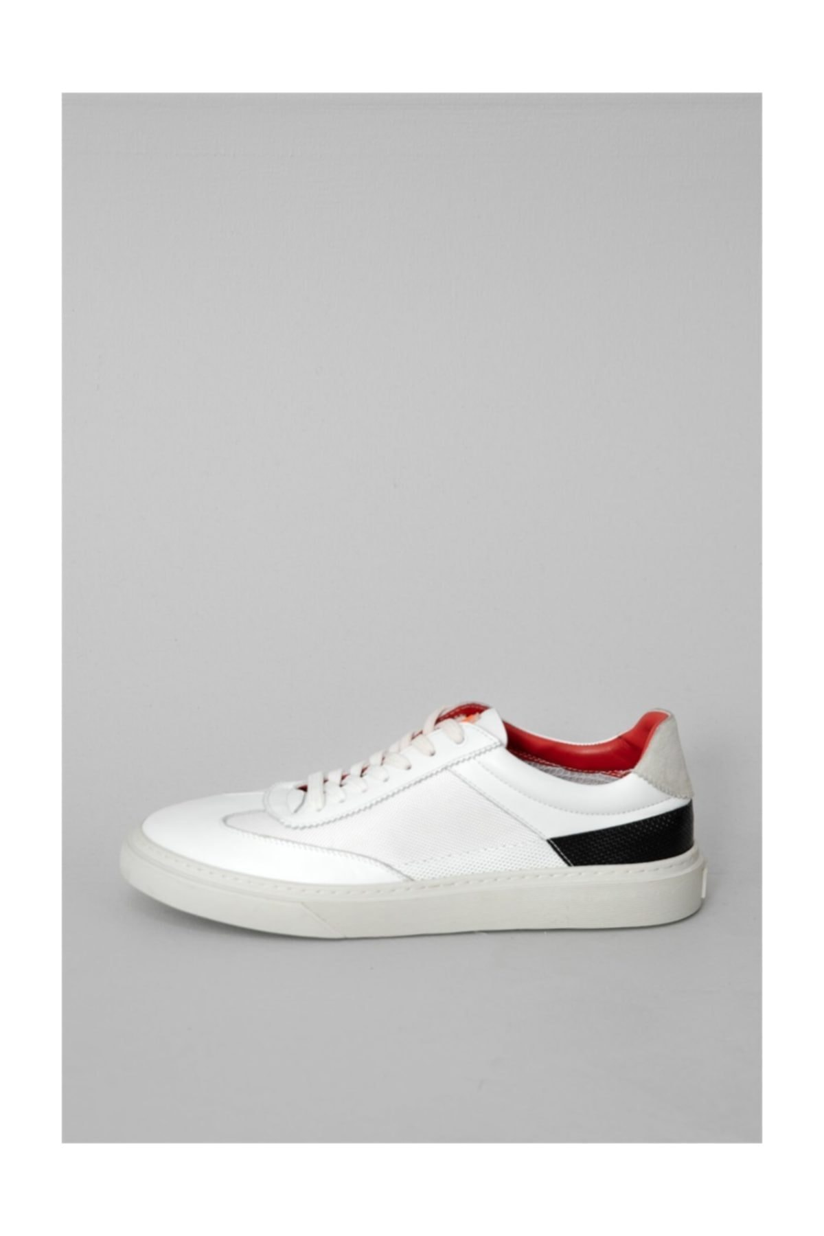 Lufian Tron Deri Sneaker Beyaz 1