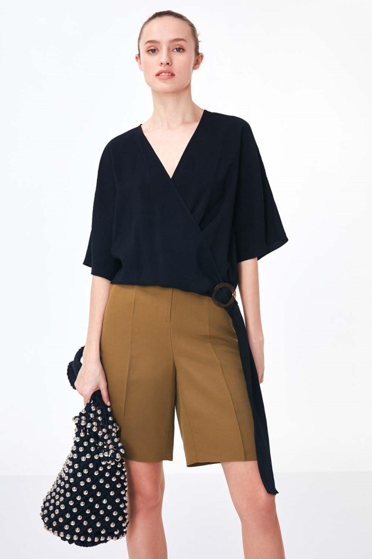 Twist Kadın Siyah Anvelop Form Bluz TS1200006066001 1