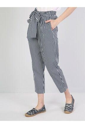 Colin's Regular Fit Yüksek Bel Düz Paça Kadın Lacivert Pantolon