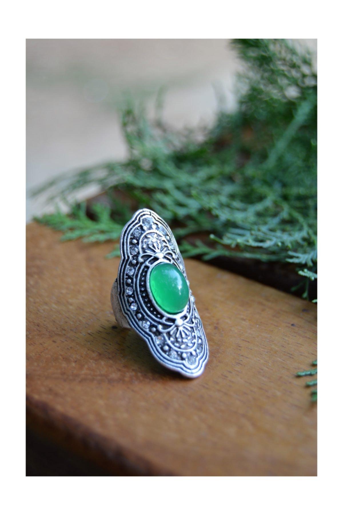 Stoneage Hint Gümüşü Bohem Ayarlanabilir Yüzük Minik Toplu Boho Tarz Yerli Üretim Türk Malı 2