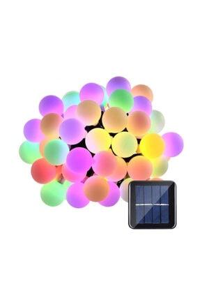 Leddukkani 50 Led 7 Metre Renkli Solar Güneş Enerjili Bahçe Teras Balkon Ağaç Lambası Aydınlatması