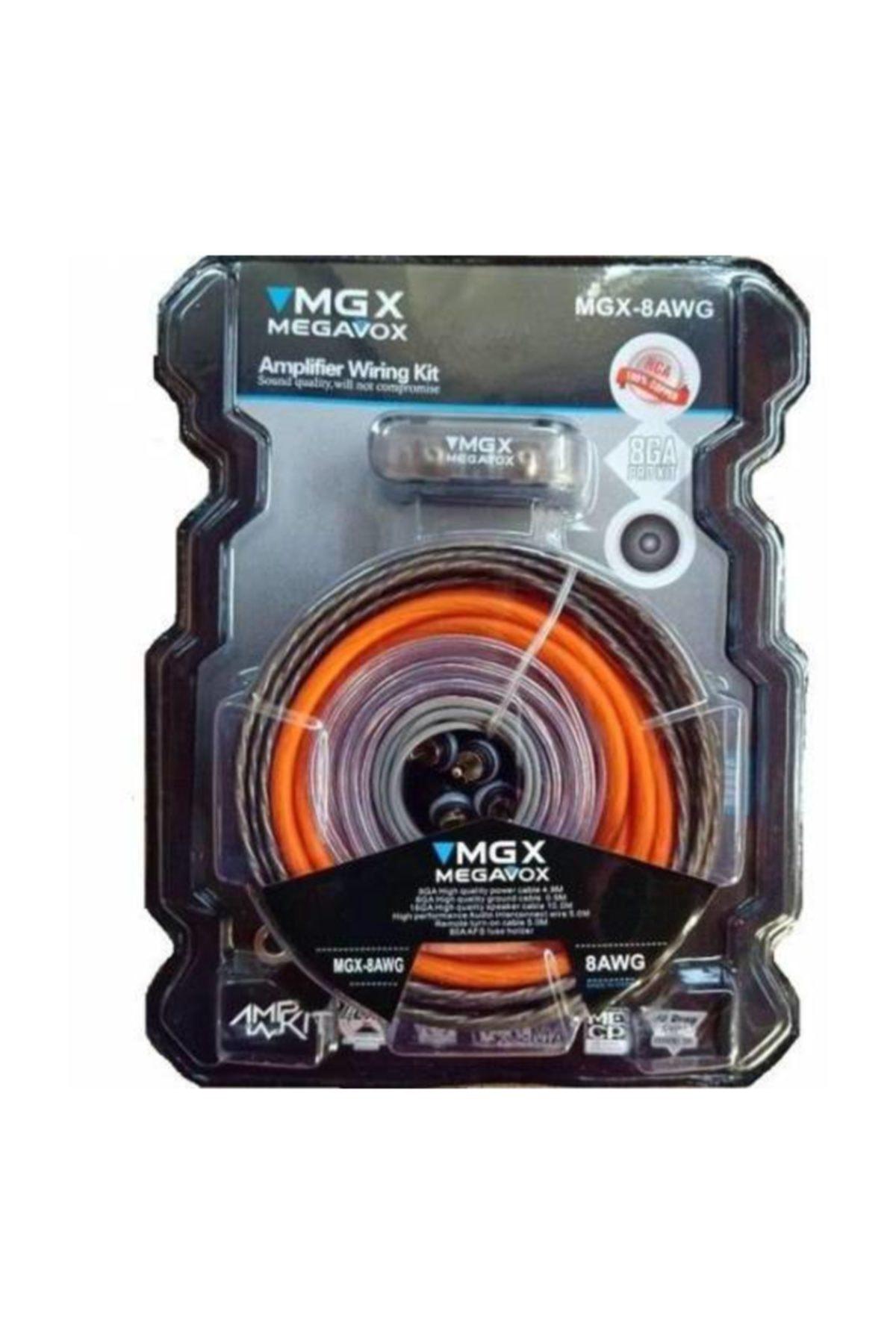 megavox Megavox Mgx-8ga Bakır Kalitesi Oto Tesisat Kablosu Seti 1