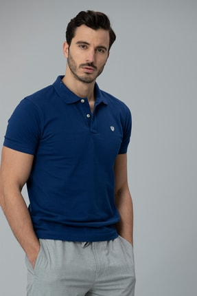 Lufian Laon Spor Polo T- Shirt Açık Lacivert