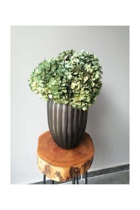 Kuru Çiçek Deposu Solmayan Gerçek Ortanca Buketi Natural (yeşil) 4-5 Adet , Kuru Çiçek