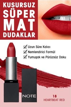 NOTE Mattever Ruj Mat ve Kalıcı Etkili 18 Heartbeat Red