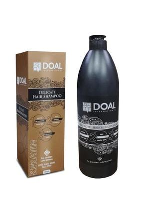 DOAL Delicate Keratin Şampuanı 200 ml + Keratin Bakım Sütü 1000 ml 8695456321452