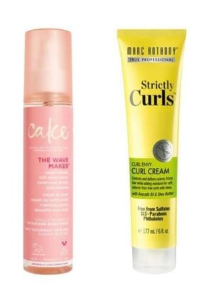 MARC ANTHONY Bukle Belirginleştirici Durulanmayan Kremi 177 ml+Cake Beauty The Wave Maker Deniz Spreyi 120 ml