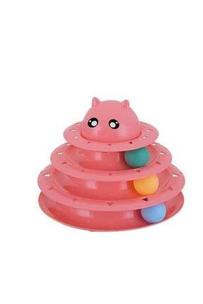 Lion Üç Katlı Kedi Oyuncağı Turntable Cat Toy
