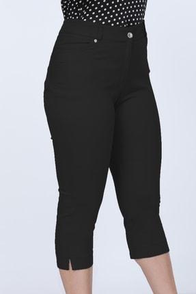Gül Moda Siyah Kadın Kapri Cotton G008