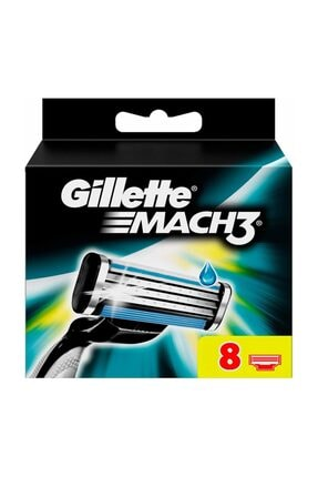 Gillette Mach3 Yedek 8'li Karton Ambalaj