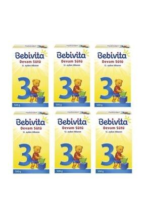 Bebivita 3 Devam Sütü 500 Gr X 6 Adet