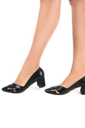 Gökhan Talay Siyah Kadın Klasik Topuklu Ayakkabı 11030101