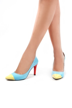 Gökhan Talay Mavi Kadın Klasik Topuklu Ayakkabı 5301503