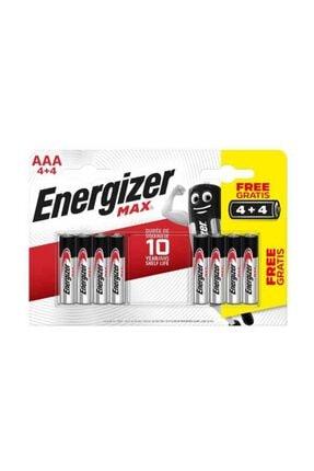 Energizer Max Alkalin Aaa Pil Bp8 Em3a4+4 (4+4 Lü)