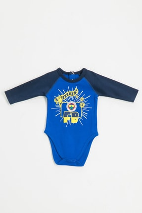 Fenerbahçe Lisanslı Unisex Bebek Mavi  Uzun Kollu Body Saks