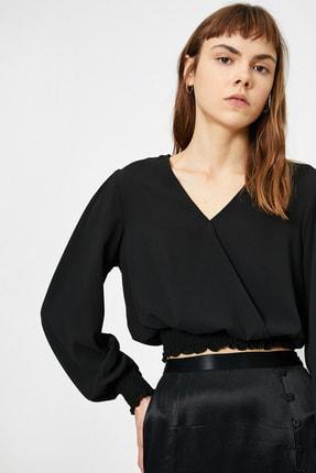Koton Kadın Siyah V Yaka Bluz 0YAL68671IW