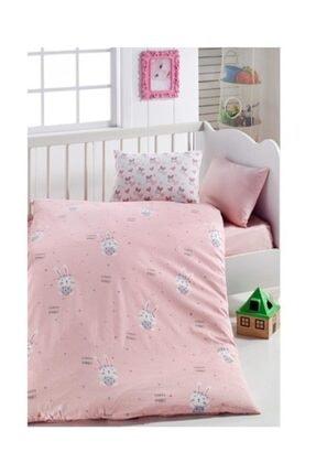 LadyModa Bebek Nevresim Takımı Yüzde Yüz Pamuklu | Pink Rabbit