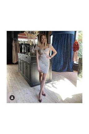 Piel'S Aral Fashion Studio Drapeli Vizon Mini Elbise