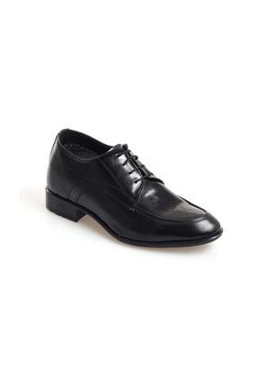 AYAK-KABI Boy Uzatan Günlük Ve Damatlık Siyah Rugan-mat Aynalı Ayakkabı