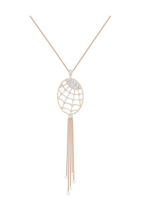 Swarovski Kolye Precisely:Necklace Oval Czwh/Cry/Ros 5499887