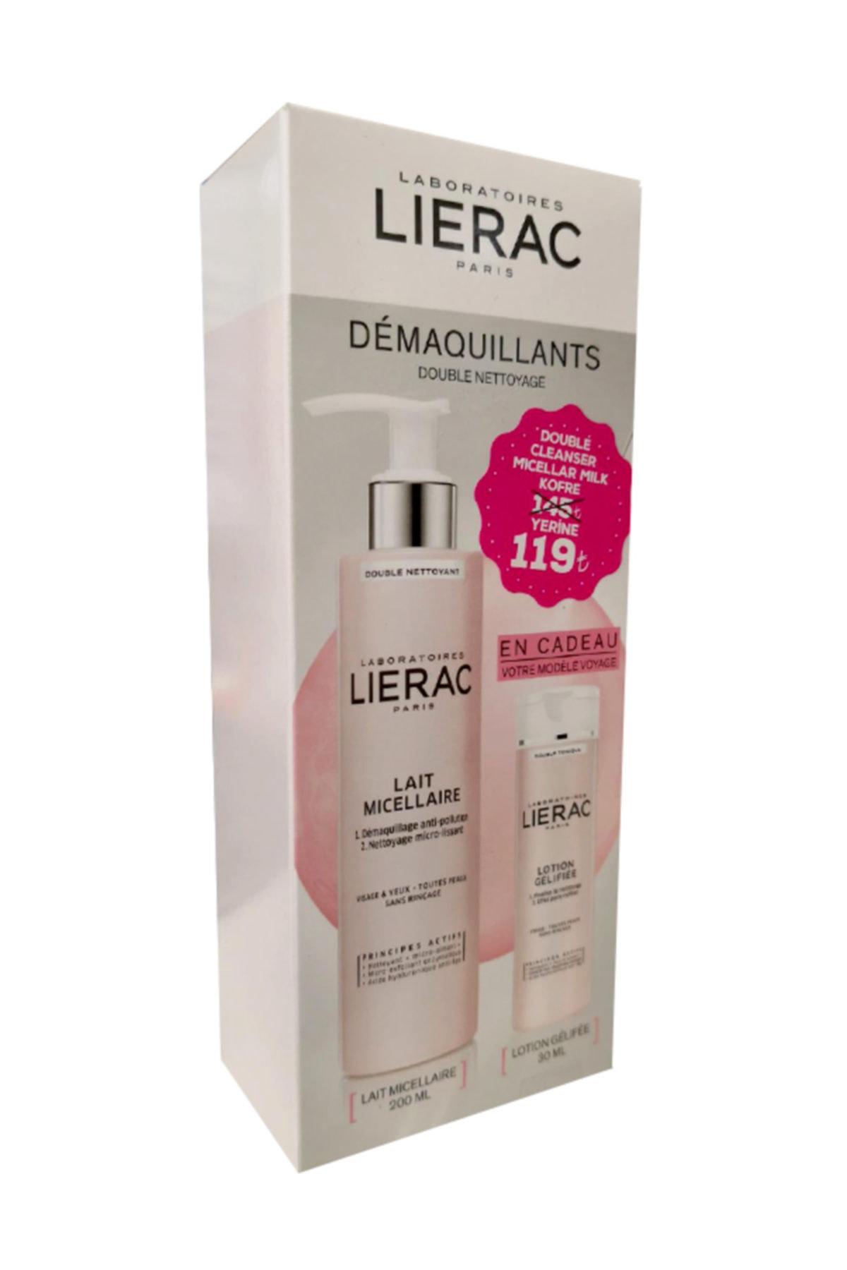 Lierac Micellar Milk Double Cleanser 200 ml + Gel Lotion Double Toning 30 ml 3508240005733 1