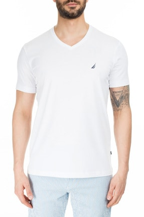 Nautica Erkek V Yaka T Shirt V01001T 1BW