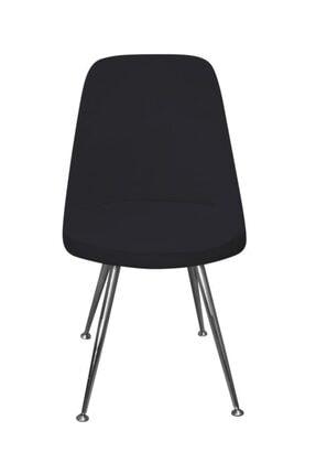 KILIFSAN Fransız Pamuklu Siyah Retro Sandalye Kılıfı
