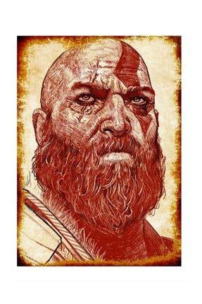 Tablomega Kratos God Of War Dekoratif Mdf Tablo