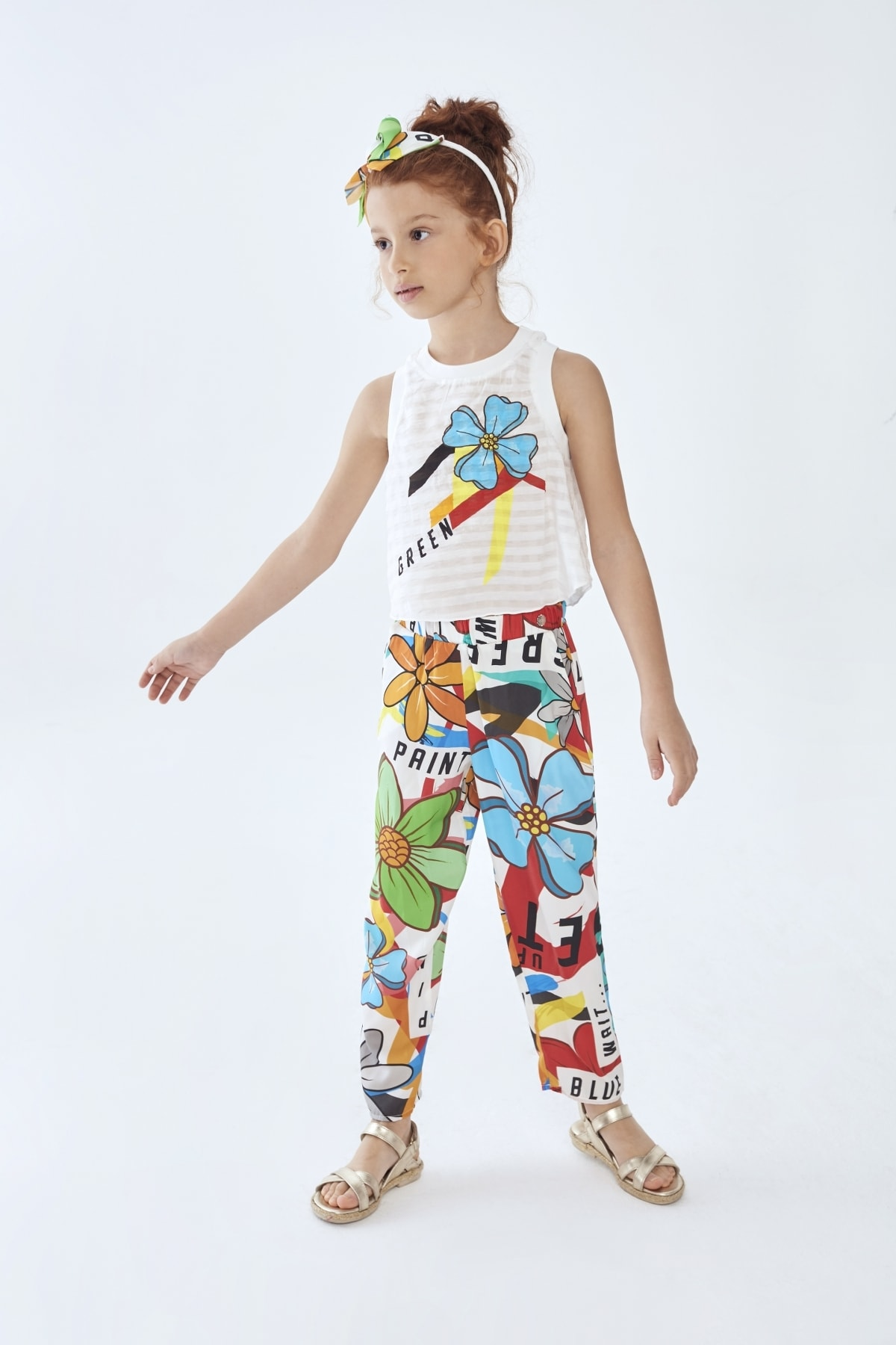Lia Lea Kız Çocuk Desenli Pantolon 1