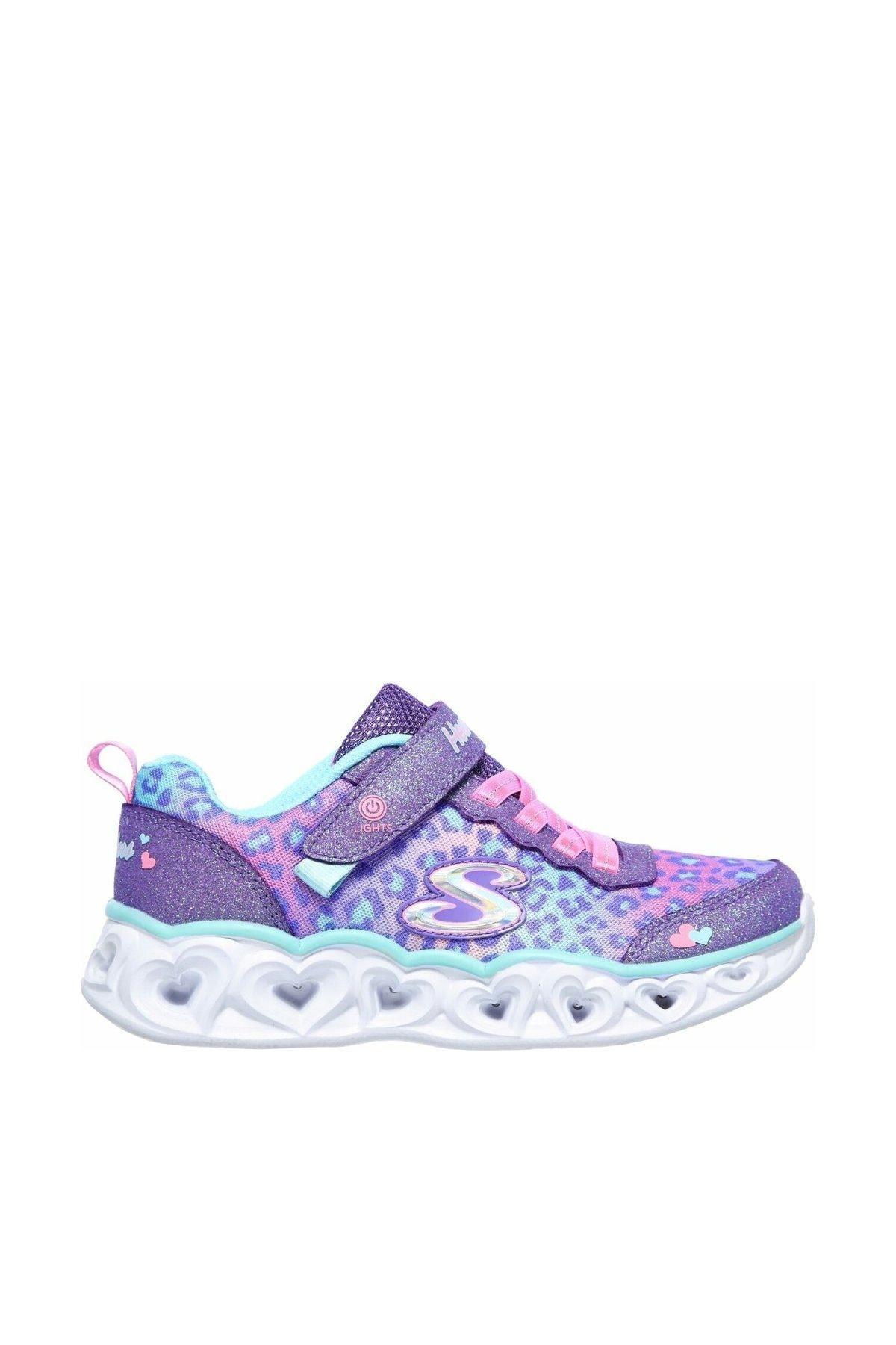 SKECHERS HEART LIGHTS - Büyük Kız Çocuk Mor Spor Ayakkabı 1